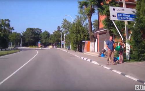 Поворот на Прасковеевку в Дивноморском