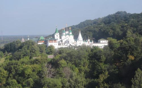 Вид на Вознесенский Печерский мужской монастырь с Нижегородской канатной дороги