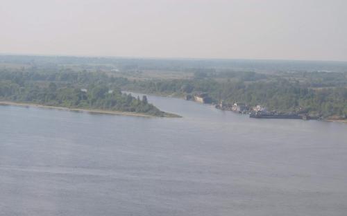 Вид на Волгу с Нижегородской канатной дороги