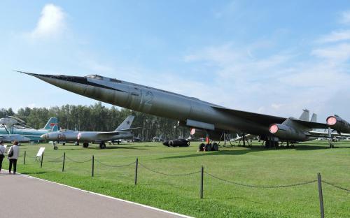 Сверхзвуковой стратегический бомбардировщик М-50 в Музее Военно-воздушных сил в Монино