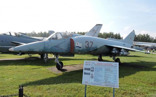 Палубный штурмовик Як-38 в Музее Военно-воздушных сил в Монино