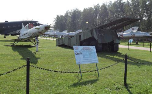 Беспилотный самолет-разведчик Ту-141 Стриж в Музее Военно-воздушных сил в Монино