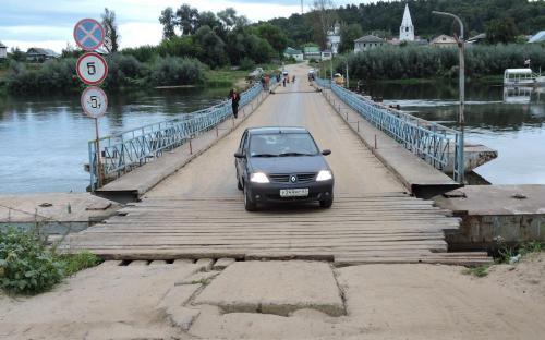 Понтонный мост через Клязьму в г. Гороховец