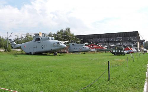 Вертолеты в Музее Военно-воздушных сил в Монино