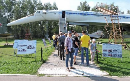 Самолет Ту-144 в Музее Военно-воздушных сил в Монино