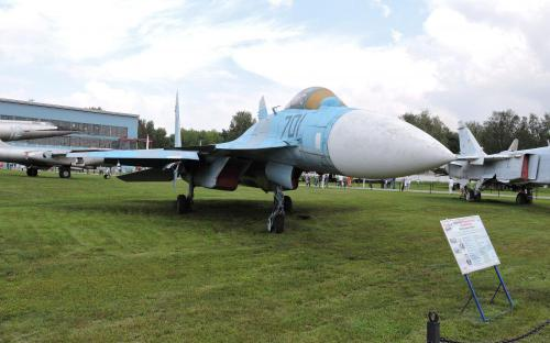 Многофункциональный истребитель Су -35 в Музее Военно-воздушных сил в Монино