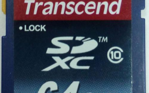 Карта памяти (флэшка) Transcend 64GB