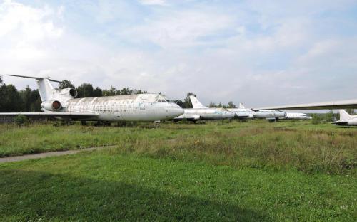 Самолеты гражданской авиации в Музее Военно-воздушных сил в Монино