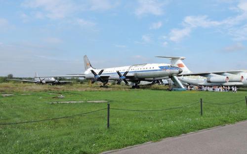 Пассажирский самолёт Ту-114 в Музее Военно-воздушных сил в Монино