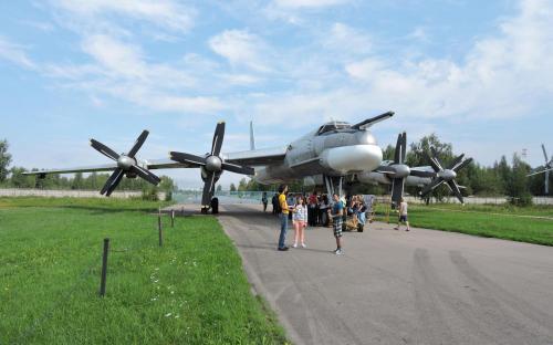 Бомбардировщик-ракетоносец Ту-95МС в Музее Военно-воздушных сил в Монино