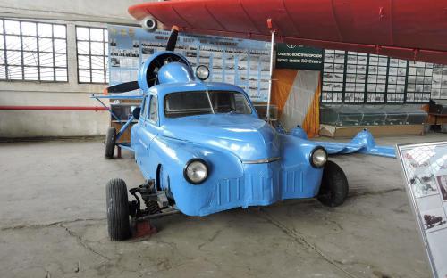 Аэросани в Музее Военно-воздушных сил в Монино